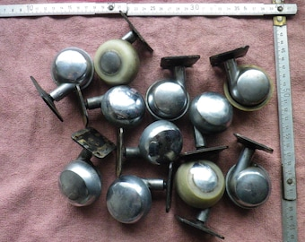 Vintage  / ussr / retro Ball Casters  /  furniture wheels / retro / strong solid metal wheels / price per one wheel