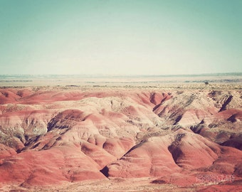 Painted Desert - Arizona photograph, landscape photography, Southwestern decor, fine art, retro, desert artwork