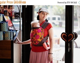 ON SALE Mei Tai for newborn or toddler for Front / Back / Hip carry. Asian style Baby Carrier. Brown 100% cotton Sling.