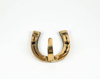 Brass Horseshoe hook