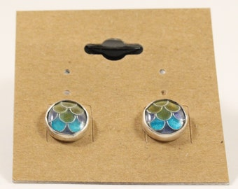 cloisonné enamel stud earrings/gift for her/ Mother's Day present