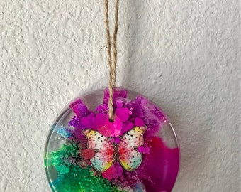 Butterfly, Resin Art, Spring Decor, Alcohol Ink, Desk Art, Desk Decor, Butterfly Ornament, Butterflies, Gift, Mother's Day Gift, Teacher Gif