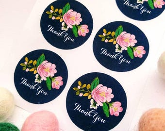 Thank You Stickers - Favours, envelope seals, cardmaking, giftwrapping