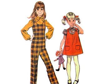 Girls Jumpsuit, Jumper, Blouse Pattern McCalls 2069 Girls Size 6X Vintage Sewing Pattern