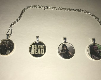 The Walking Dead TWD necklace Daryl Dixon, Mischone, Rick Grimes, Zombies