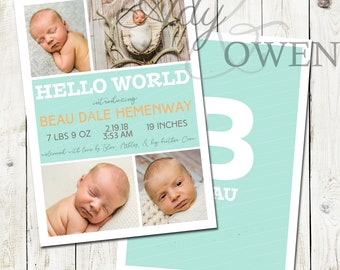 Hello World Birth Announcement
