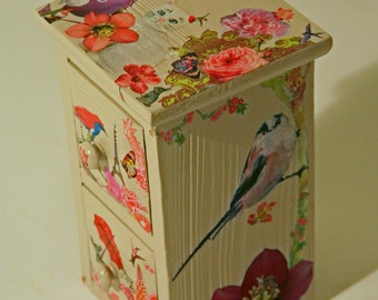 Unique decoupage trinket box.