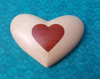 Birdseye Maple Heart with Padauk Inlay