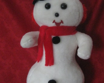Vintage Large 28 Inch Stuffed Snowman