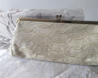 Vintage clutch bag,Clutch purse, white plastic clutch bag,Vintage wedding,bridal
