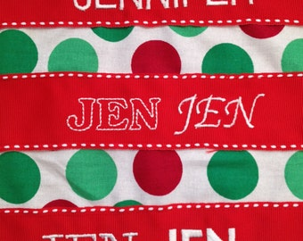Add Embroidery to a Christmas Stocking