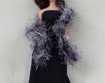 "11.5"" Fashion Doll Long Dress for you to decorate with boa"