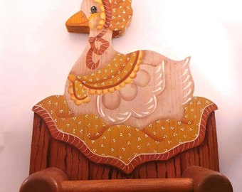Wooden Goose Towel Holder - Wall decor towel holder - Kitchen decor