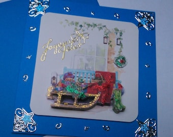 3D 386 hand made greeting card