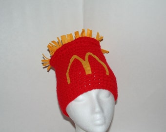 Child size french fry hat - fun and unique handmade winter costume hat