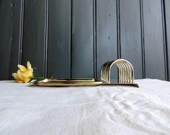 Vintage english silver plated toast rack or letter holder
