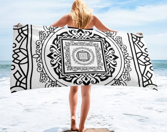 Beach Towel - Square Lace Texture