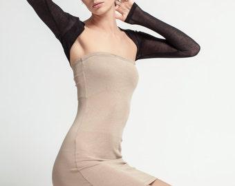 Black Shrug / Fitted Bolero / Stylish Shrug / Short Cover Up / Long Sleeve Shrug / Cropped Shrug / Marcellamoda - MC0066