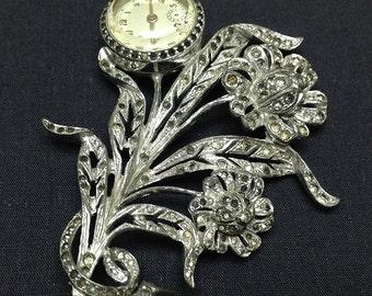 Creations Rhinestone Lapel Watch