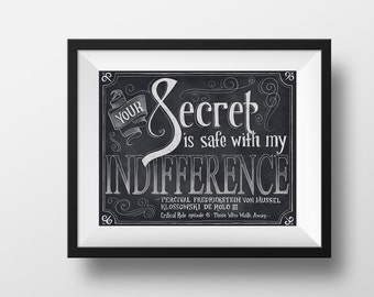 Critical Role - Secret - Print - Dungeons and Dragons Typography Chalkboard