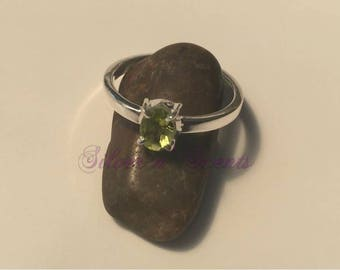 Sterling Silver Peridot Stack Ring
