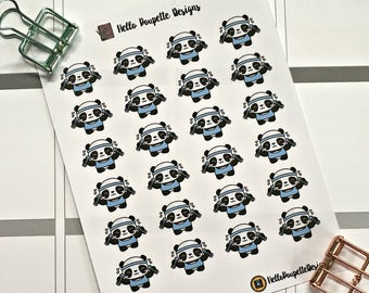 Anna the panda mini stickers - Weight lifting / exercise / gym