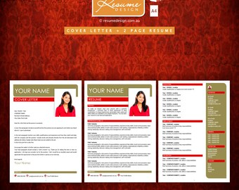Resume Design Creative Template 4 Professional | Resume Writing | Cover Letter | Resume Design Service | Resume Design Package
