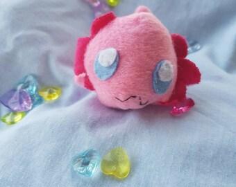Baby axolotl plush keychain
