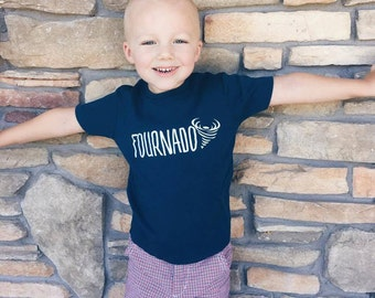 Fourth Birthday Shirt - 4th Birthday Shirt - Boy's Fourth Birthday Shirt - Four Year Old Shirt - Girl's 4th Birthday Shirt - Fournado Shirt