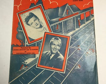 1945 Waitin' For the Train to Come In Vintage Sheet Music