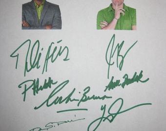 Psych Signed TV Script Screenplay X8 Autographs James Roday Corbin Bernsen Dule Hill Pascale Hutton Timothy Omundson Anne Dudek Nelson