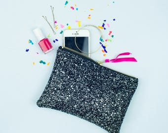 Stary Sky Glitter Clutch / Evening Purse / Make Up Bag