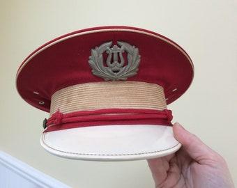 Vintage Marching Band Hat Ostwald 1950