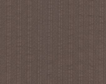 Gray cotton fabric with Brown stripes