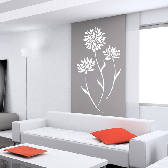 fleur stickers pour murs de stickers pour murs b b chambre. Black Bedroom Furniture Sets. Home Design Ideas