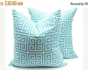 15% Off Sale Blue Pillow - Blue Pillow covers - Throw Pillow covers - Aqua Pillow Toss Pillow Cushion Covers 16x16 Pillow cover Accent Pillo