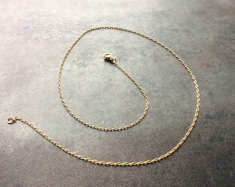 """3 Pack of Gold Plated Stainless Steel Oval Link Chain Necklace - 18"""" or 24"""" Length"""