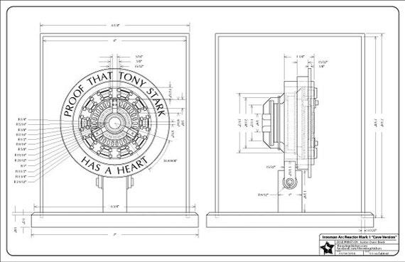 Iron man arc reactor mark 1 blueprint digital download malvernweather Choice Image