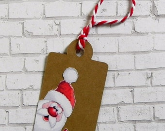 santa gift tag, christmas gift tag, gift tag, holiday gift tag, holiday tag