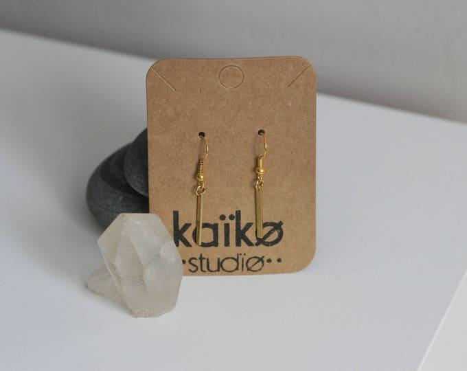 Various Geometric Brass Earrings   Minimalist   Geometric   Gift