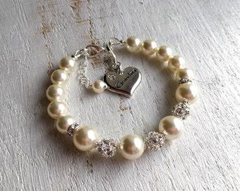 GRANDMA Gift Grandma Bracelet Grandmother Gift Grandmother Bracelet Nana Grandma Wedding gift New Grandma To Be Pearl Bracelet Bride Groom