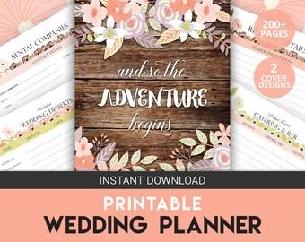 Wedding Planner Binder | Wedding Organizer | Wedding Budget | Engagement Gift | Rustic Wedding | Wedding Printable