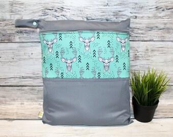 Mint deer bag