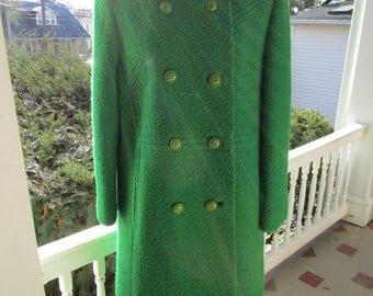 Vintage 1950s Ladies Double Breasted Wool Coat