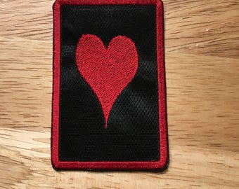 Heart patch Love patch embroidered patch hook only patch sew on 3x2