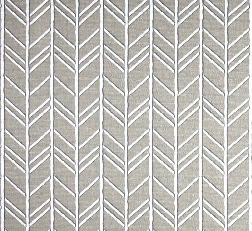 Taupe Grey Herringbone Fabric Designer Home Decor Fabric by the Yard ...