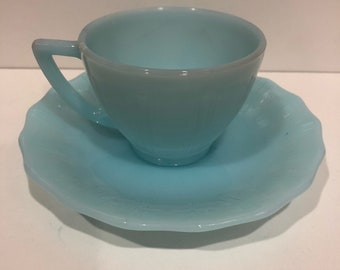 Pyrex Robins Egg Blue Cup and Saucer