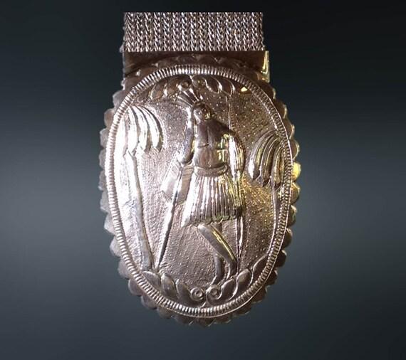 17th Century Silver Armor Shoulder Strap Breast Plate