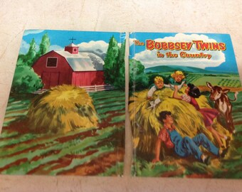Bobbsey Twins Front and Back Book Covers Vintage