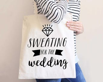Bride Wedding Tote Bag Gift for Bride, Modern Style Bridal Shower Gift Idea Bags for Wedding Friend (Item - BSW300)
